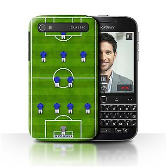 STUFF4 Case/Cover for Blackberry Classic/Q20/4-2-3-1/Blue/Football Formation