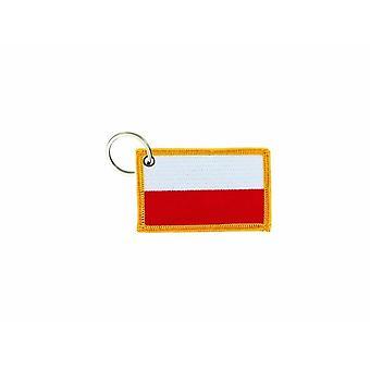 Porte Cle Cles Clef Brode Patch Ecusson Badge Drapeau Pologne Polonais