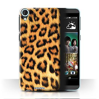 STUFF4 Case/Cover for HTC Desire 820s Dual/Leopard/Animal Fur Pattern