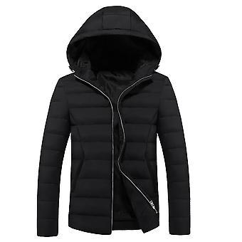 Allthemen Men's Solid Hooded Warm Winter Padded Jacket