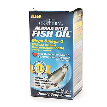 21st century alaska wild fish oil, softgels, 90 ea