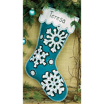Flurries Stocking Felt Applique Kit 19