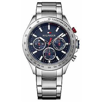 Tommy Hilfiger Mens Hudson Stainless Steel Blue Dial 1791228 Watch