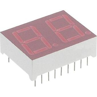 Seven-segment display Red 14.2 mm 2 V No. of digits: 2 Lite-On