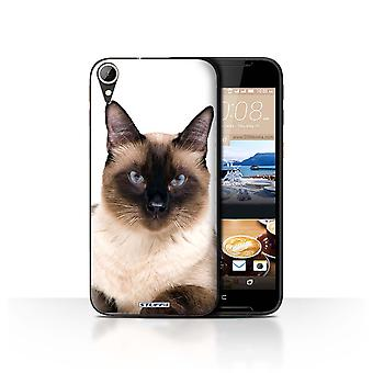 STUFF4 Case/Cover for HTC Desire 830/Siamese/Cat Breeds