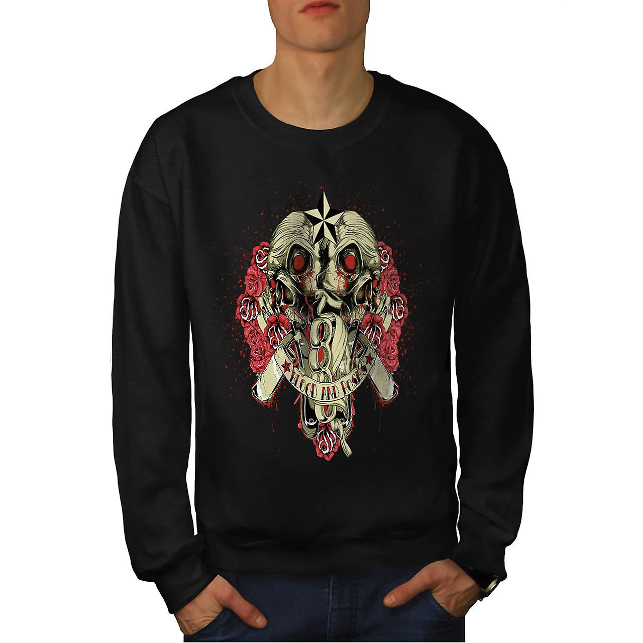 Blood And Roses Fear Flower Love Men Black Sweatshirt | Wellcoda