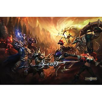League Of Legends Video Game Poster Poster afdrukken