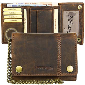 GREEN country of classic biker chain wallet purse 2554-25