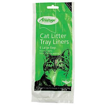 Armitage katt skräp Liners stor grön (12 Pack)