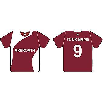 Ambientador de coche personalizado Arbroath Football camiseta