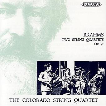 Colorado kvartetten - Brahms: To strygekvartetter, Op. 51 [CD] USA import