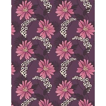 Holden Decor Tahiti Plum Pink Flower Floral Feature Wallpaper