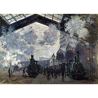 Claude Monet - The Gare St Lazare 1877 Poster Print Giclee