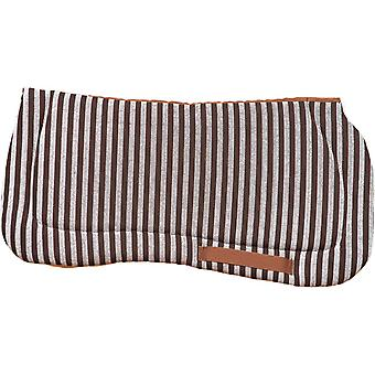 Hermanos Gómez Quilted Saddle Cowboy Brown-White (70X72)