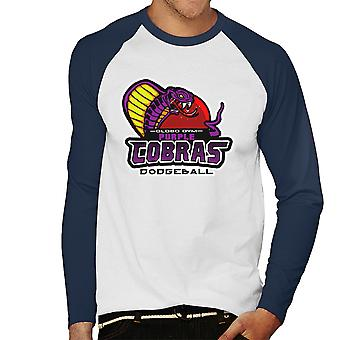 Purple Champs Globo Gym Purple Cobras Dodgeball Men's Baseball Long Sleeved T-Shirt