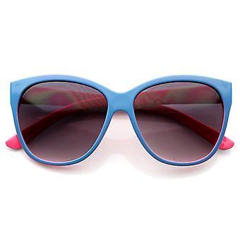 Retro sjov mode farverige Retro stil overdimensionerede Horn kantede solbriller