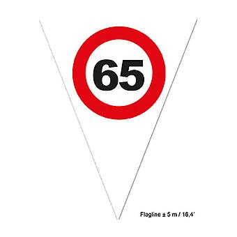 Party favors  Flagline 65 red traffic sign 5m