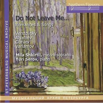 Shkirtil / Serov - Verstovsky Alabiev - romancer og sange [CD] USA import