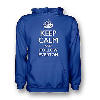 Keep Calm And Follow Everton Hoody (blue)