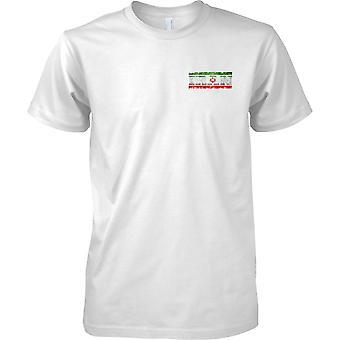 L'Iran Grunge paese nome effetto bandiera - petto Mens t-shirt Design