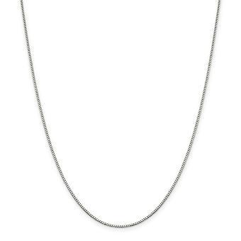 スターリングシルバー固体研磨 1.10 mm ボックス チェーン ネックレス - スプリング リング - 長さ: 16 に 36
