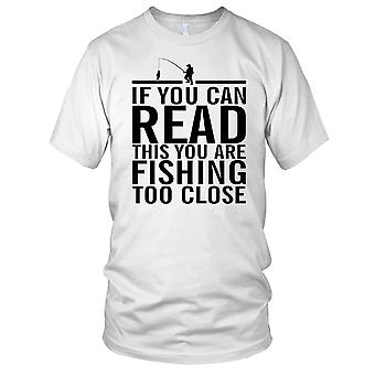 If You Can Read This You Fishing Too Close Angler Kids T Shirt