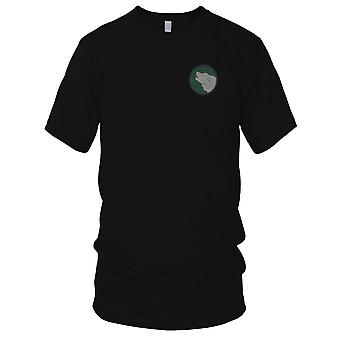 US Army - 104th Infantry Division Embroidered Patch - Mens T Shirt