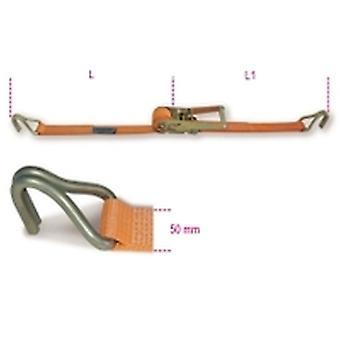 Beta 8182 50-Mt10.5 Ratchet Tie Down W/ Single Hook 2000Kg Belt 50Mmx10.5 Metre