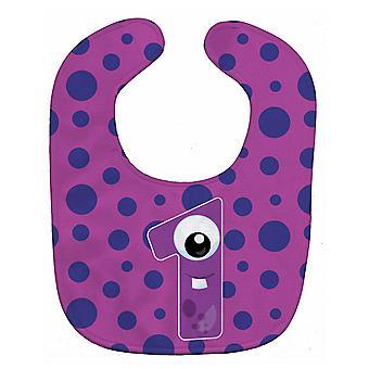 Carolines Treasures  BB8851BIB Monster Month 1 Baby Bib