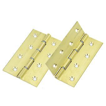 Premium kvalitet M4TEC ZC9 enfärgad DSW mässing interiör Butt dörr gångjärn - robust, tålig & lätt att installera – med dubbel stål brickor & stål stift – idealisk för allmänna snickeri & möbler. 2st