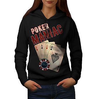 Покер игра маньяк женщин BlackHoodie | Wellcoda