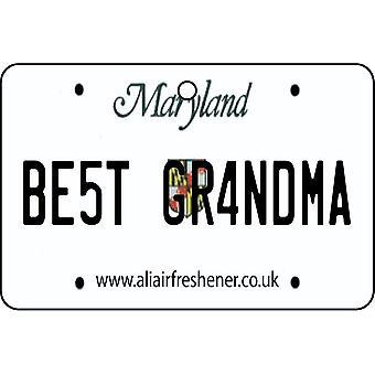 Maryland - Best Grandma License Plate Car Air Freshener
