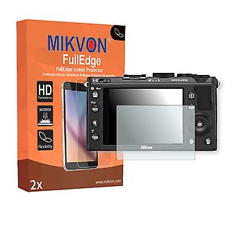 Nikon COOLPIX A screen protector - Mikvon FullEdge (screen protector with full protection and custom fit for the curved display)