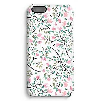 iPhone 6 Plus Full Print Case (Glossy) - Dainty flowers