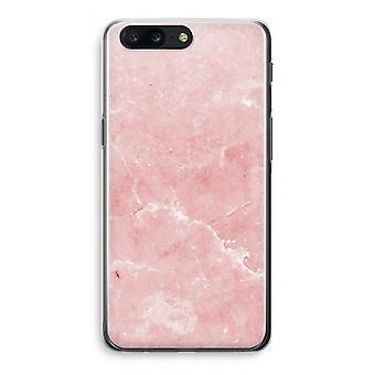 OnePlus 5 Transparant Case - Pink Marble