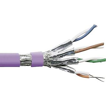 Network cable S/FTP 4 x 2 x 0.25 mm² Purple