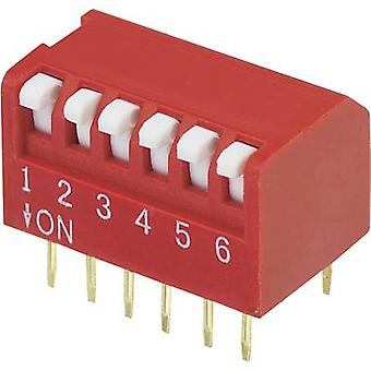 DIP switch Number of pins 6 Piano-type TRU COMPONENTS DPR-06