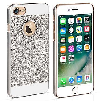 Caso de Yousave Accesorios Iphone 7 Diamond Flash - plata