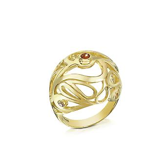 Sho London ladies MA022YP gold silver ring