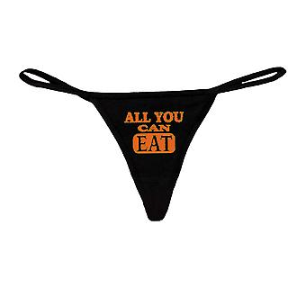 Sexy Funny  Women's Made in USA Black Thong G-string: ORANGE