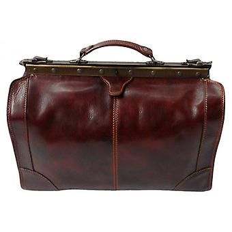 David Van Hagen medio Gladstone Bag - Brown