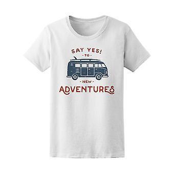 Vintage Hippie Van Yes Adventure Tee Women's -Image by Shutterstock