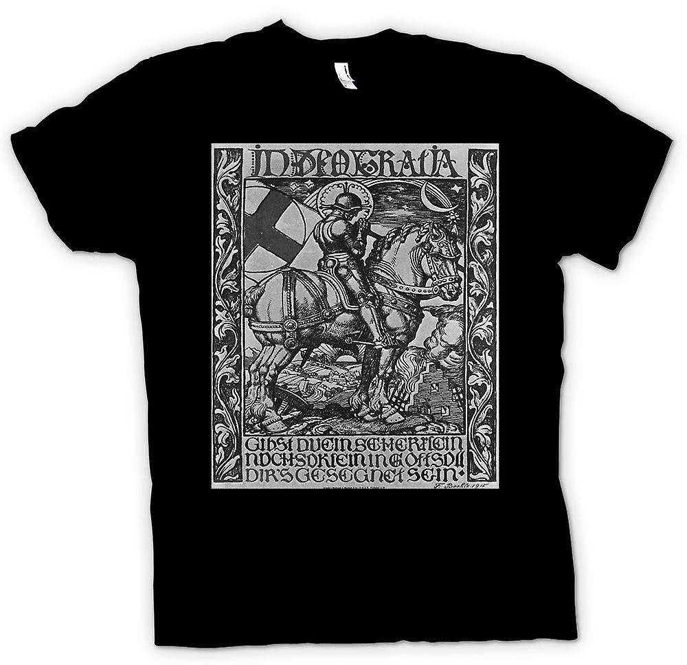 Mens T-shirt - Knight In Armour - War Poster