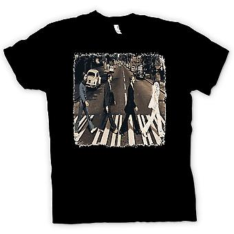 Damen T-Shirt - Beatles - Abbey Road - Album Art