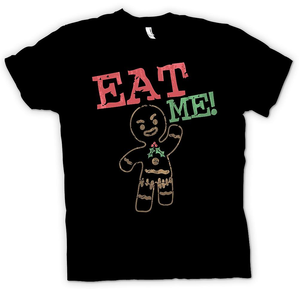 Mens T-shirt - Gingerbread Man, Eat Me - Funny