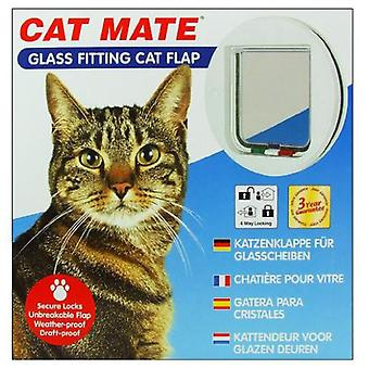 Gato Mate vidrio montaje puerta abatible de gato