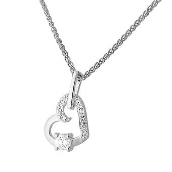 Orphelia Silver 925 Chain With Pendant Heart Zirconium  ZH-7080