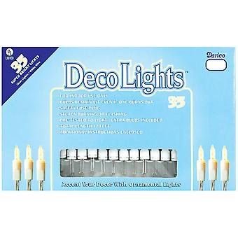 Deco Lights 35 Count 12'-Clear Bulbs W/White Wire