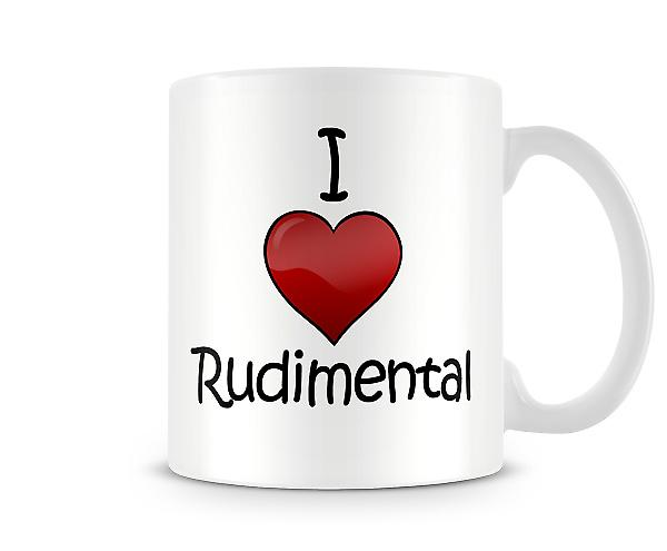 I Love Rudimental Printed Mug