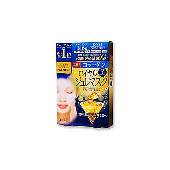Kose - Clear Turn Premium Royal Jelly Mask (Collagen) (4PCs)